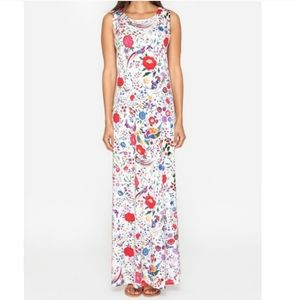 NWT Johnny Was Greidon Floral Peacock Maxi Dress L